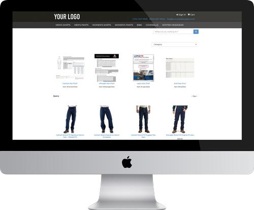 Employee Purchase Program Website on a desktop