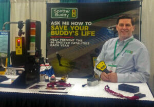 Paul Battista shows Spotter Buddy product